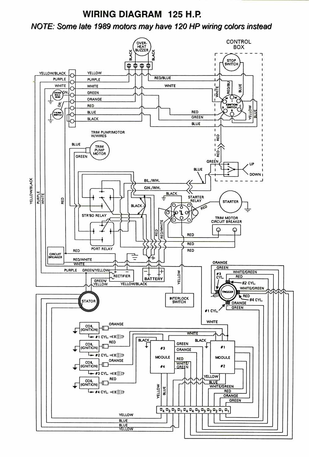 125HP_thru89_eng 1990 bayliner capri wiring diagram wiring diagram and schematic 1992 bayliner capri wiring diagram at panicattacktreatment.co