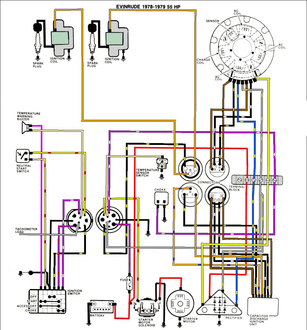 Johnson 40 Hp Wiring Diagram Free For You 90 Outboard Schematic Get Image 1964 1969